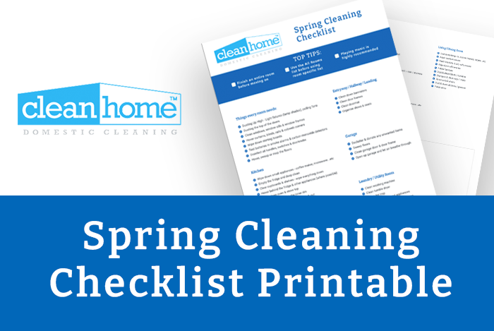 spring cleaning checklist downloadable printable